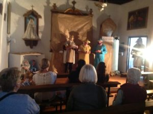 Mixed age cast at Nazaret Lanzarote church