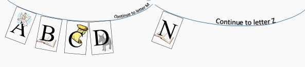 The Alphabet Nativity A to Z washing line